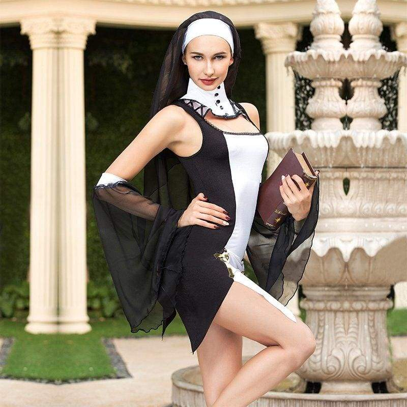 Crazy Nun - Sexy Lingerie Set Erotic Costume For Woman