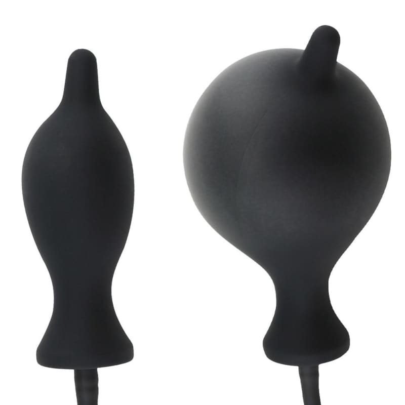 Inflatable Silicone Anal Butt Plug PumpDilator