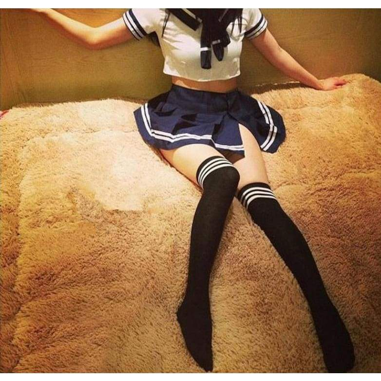 Japanese School Girl Uniform - Top + Skirt + Socks