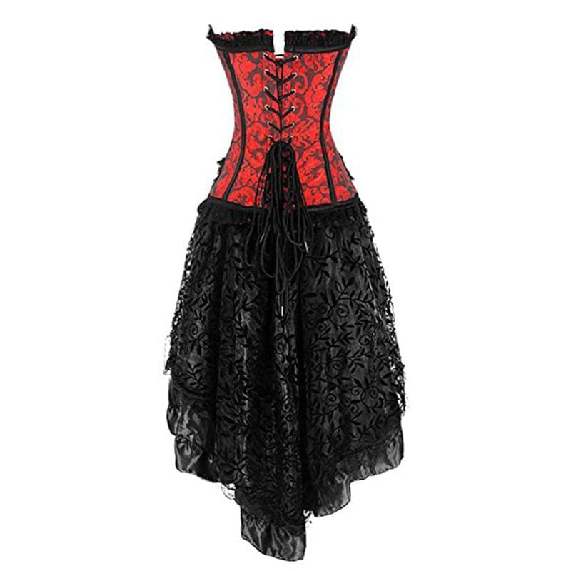 Victorian Corset + Skirt - Vintage Aristocrat Dress Sexy Gothic Clothing Bustier Skirt Set