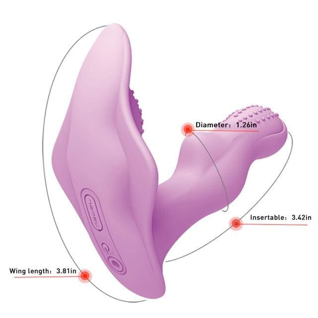 Waterproof Napkin-Shaped Wearable Butterfly Clitoris Stimulator G-Spot Vibrator - China 1 / With retail box