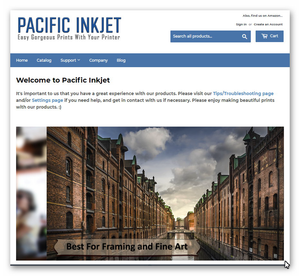 The New Pacific Inkjet website is LIVE!!! - Order Direct or via Amazon