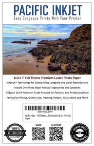 8.5x11 Professional Premium Luster Delivers Gorgeous Photos