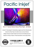 "8.5x11"" - Canvas Textured inkjet Printer Photo Paper 20 Sheets"
