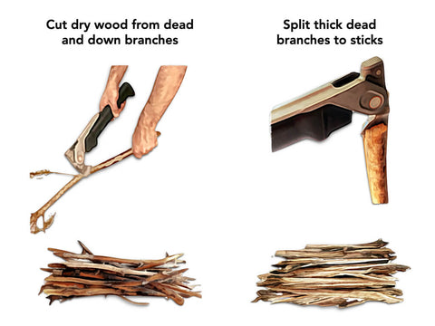 How to start a fire: Kindling source