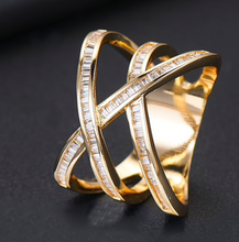Kriss Kross Cubic Zirconia Ring