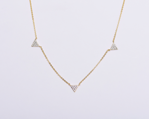Triple CZ Tami Necklace