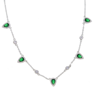 Krystal Emerald necklace