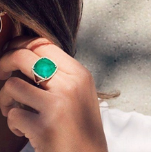 Square Sammi Emerald Ring