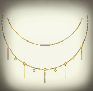 Celeste Double Drop Necklace