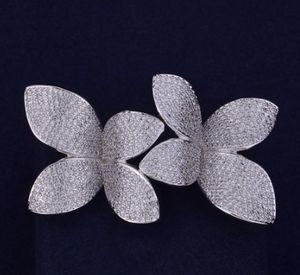 Perla Flower Double Ring