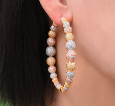 Cora Pave CZ Ball Hoops