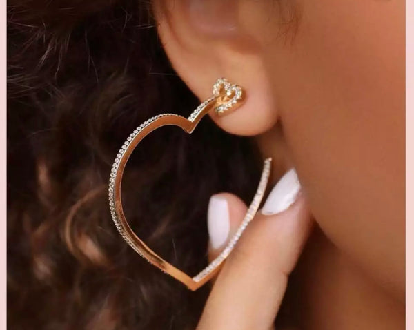 Julez heart earrings