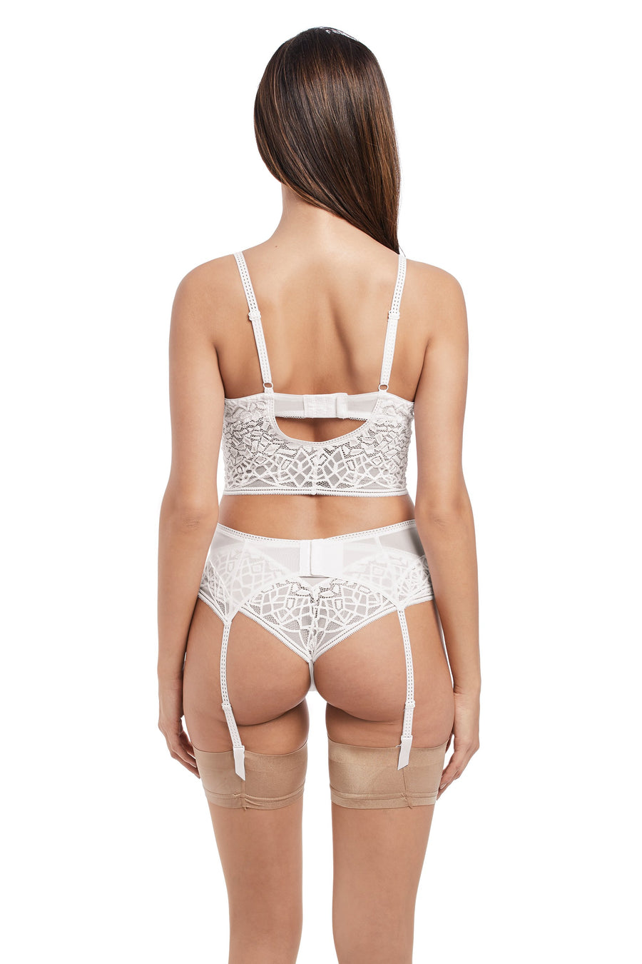 Soiree Lace White Suspender