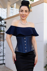 Midnight Blue Underbust With Shimmering Hip Panels