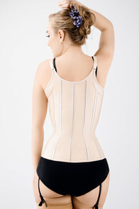 Corset Story Gold Latex Underbust Corset with adjustable Bra Straps