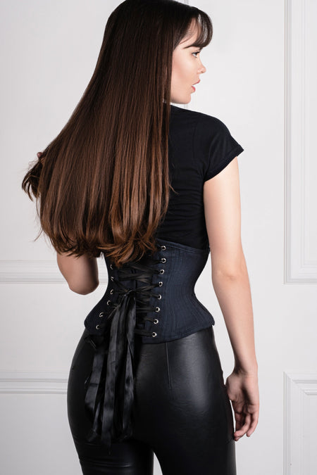 Black Cotton Expert Waist Training Waspie Corset