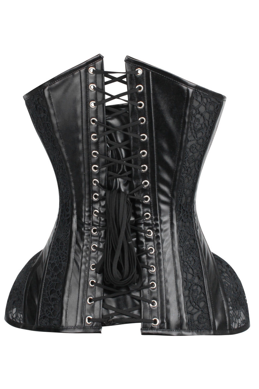 PVC Overbust Corset with Hip Panels