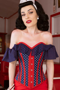 Off The Shoulder American Flag Corset