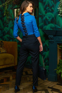 Cornflower Blue Corset Shirt