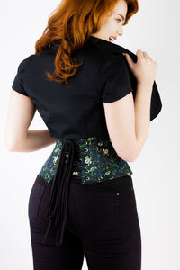 Black Cropped Short Sleeved Bolero Jacket
