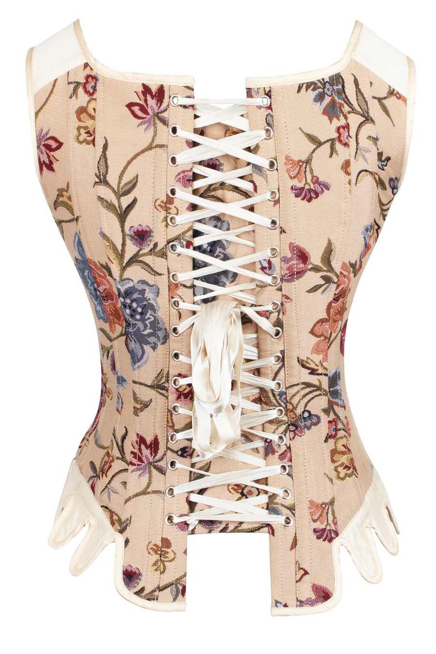 Brocade Steel Boned Historically Inspired Corset