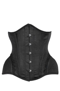Black Burlesque Underbust with Bullet Hip Gores