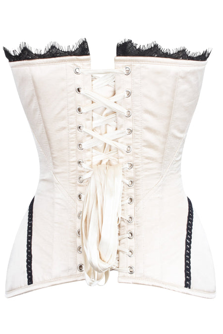 Burlesque Lace Overlay Overbust Corset