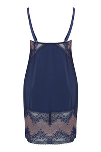 Charnos - Bridgette Chemise Ink/Rose Gold