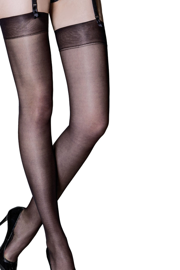 Pour Moi - Secret Luxe Sheer 12 Denier Stocking - Black