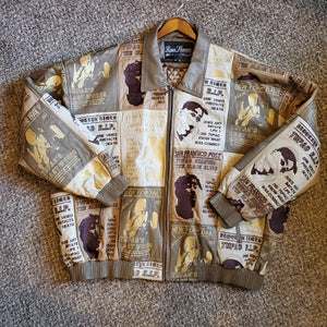 1990's Tupac Tribute Leather Jacket
