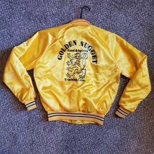 1980s Golden Nugget Yellow Satin Jacket