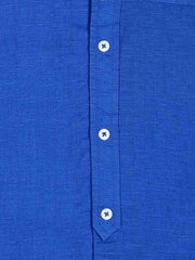 Blue Mandarin Collar Shirt