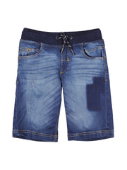 Blue Denim Elasticated Shorts