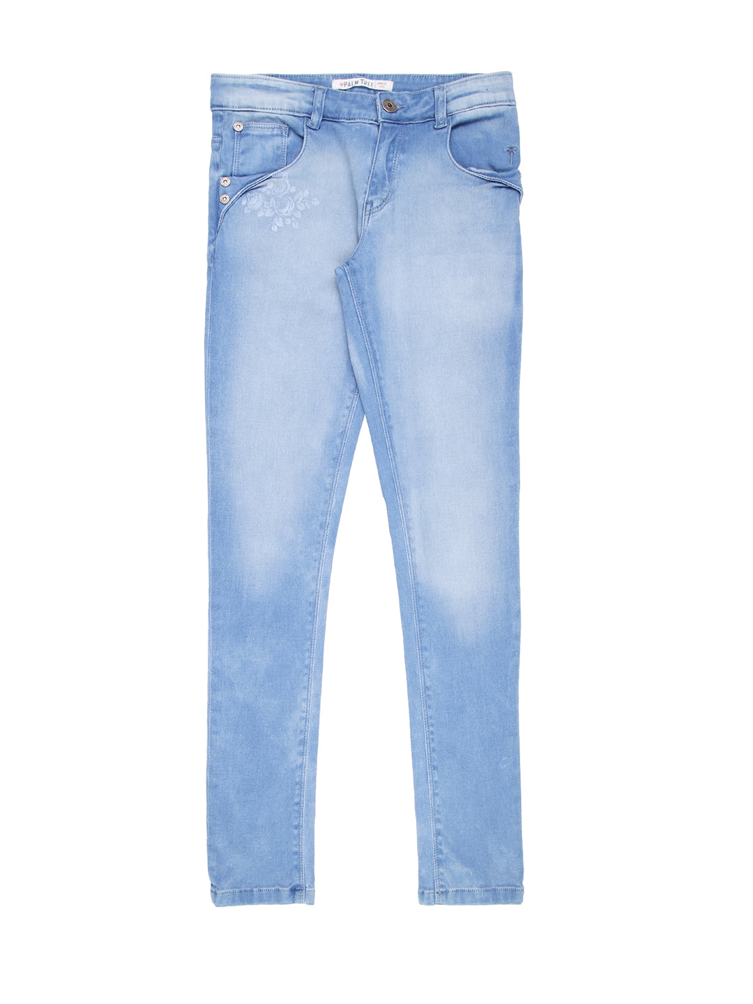 Light Blue Ice Wash Jeans1