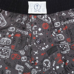 Gini and Jony Grey Boxer Shorts Elasticated For Boys