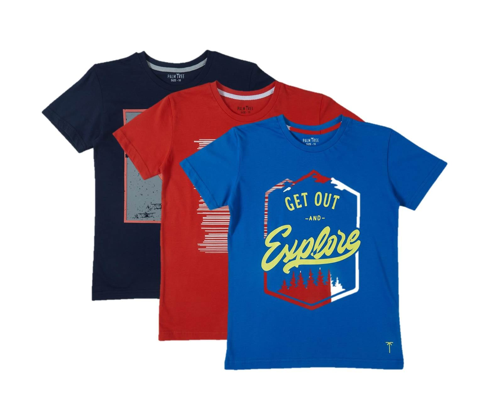 Imperial Blue T-Shirt Pack Of-3
