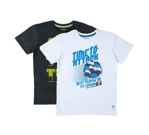 Anthra Melange T-Shirt Pack Of-2