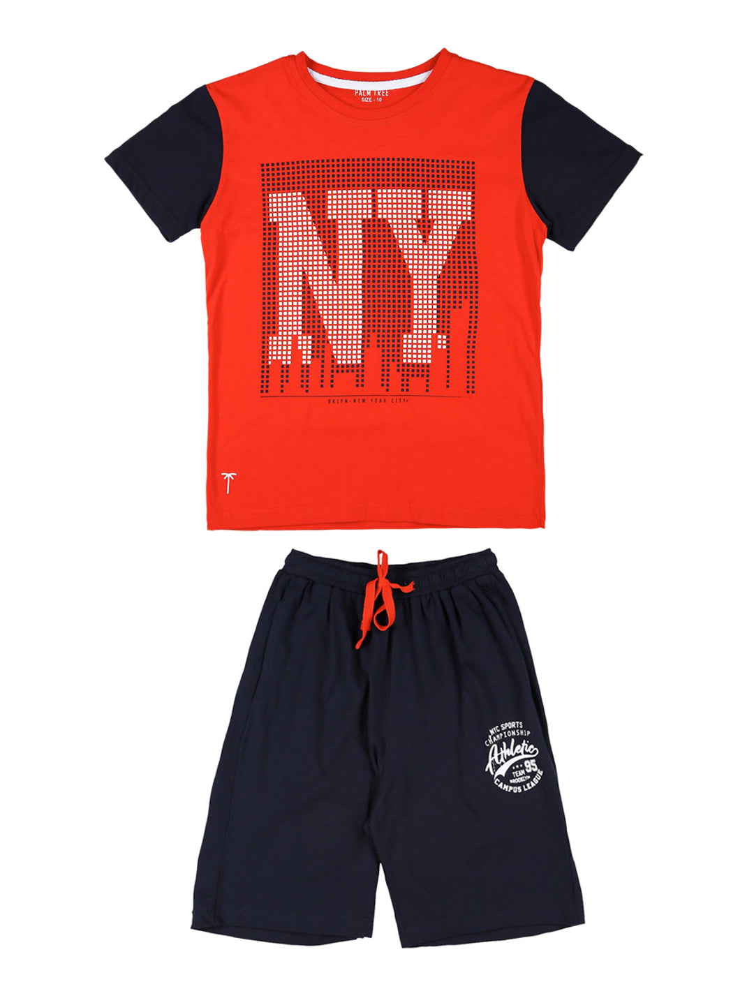 Fiery Red New York T-shirt and Shorts Set