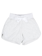 White Melange Hot Shorts