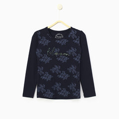 Navy Knits Top 3/4Th