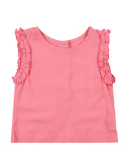 Salmon Rose Woven Top
