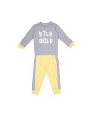 Grey Tshirt and Pants set for Baby Boy