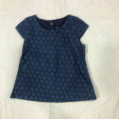 Blue Wing Teal Woven Top