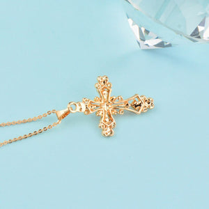 Pearl Cross Pendant Necklace