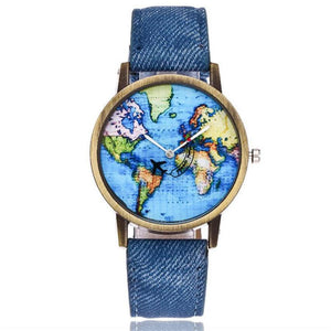 Unisex World Map Watch