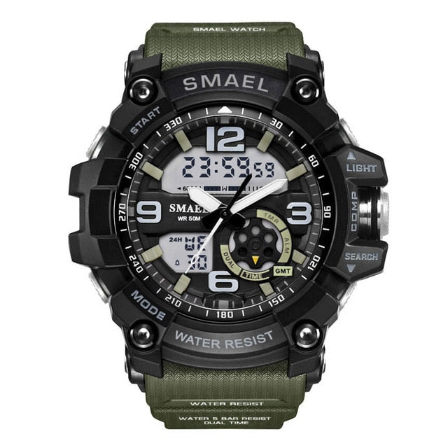 Dual Time Military Sport Watch