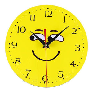 Emoji Wood Wall Clock