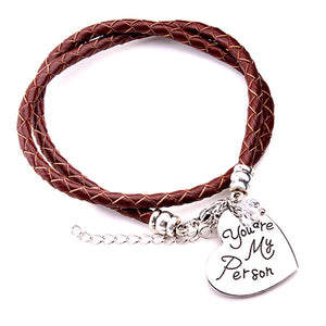 You're My Person - Brown bracelet