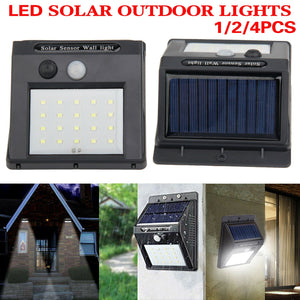 LED Solar Powered Motion Sensor Wall Light